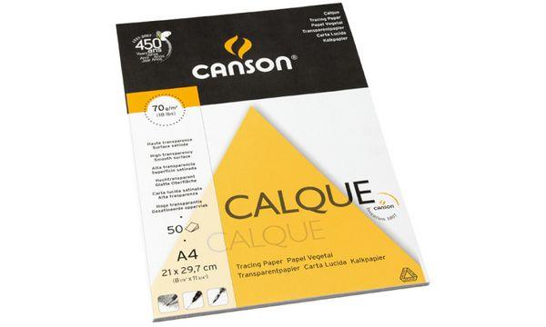 CANSON Transparentpapierblock Calque, DIN A3, 90 g/qm