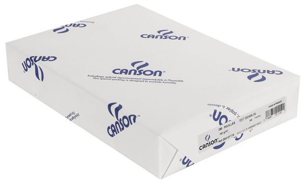 #25xCANSON Zeichenpapier 1557 Dessin JA, 120 g/qm, DIN A4