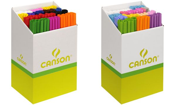 CANSON Krepppapier-Rolle, leuchtende Farben, Display