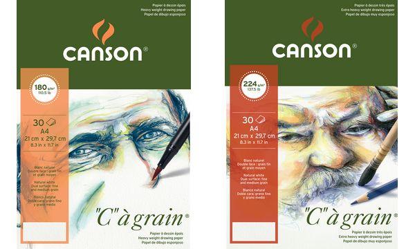 CANSON Zeichenpapierblock C à grain, DIN A5, 180 g/qm