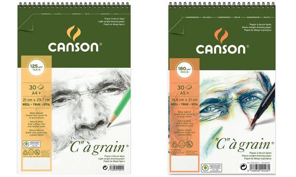 CANSON Zeichenpapier-Spiralblock C à grain, A5, 125 g/qm