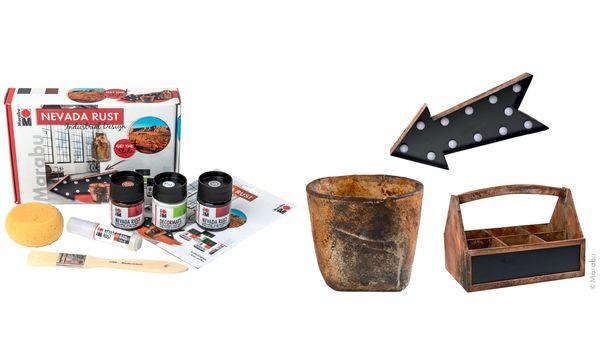 Marabu Acryl-Effektfarbe NEVADA RUST, Set Industrial Design