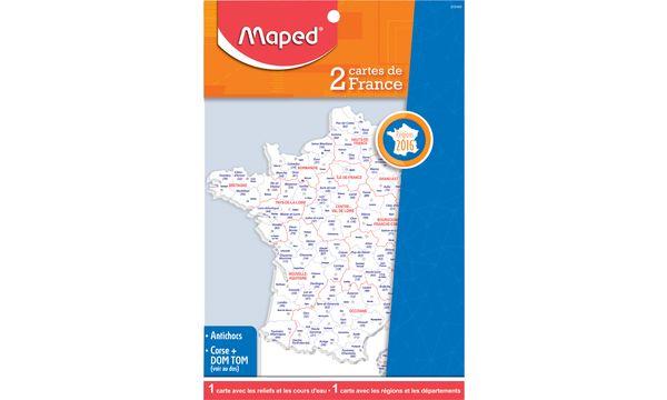 #15xMaped Schablone Frankreich-Landkarte, Inhalt: 2 Stück