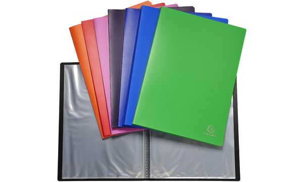 #8xEXACOMPTA Sichtbuch, DIN A4, PP, 80 Hüllen, farbig so...