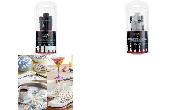 POSCA Pigmentmarker, 7er Set, weiß