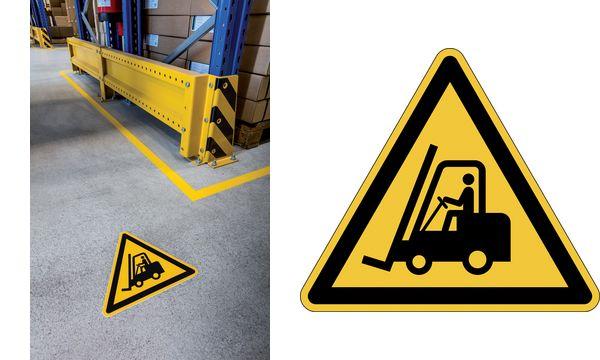 DURABLE Warnkennzeichen Warnung vor Flurförderzeugen