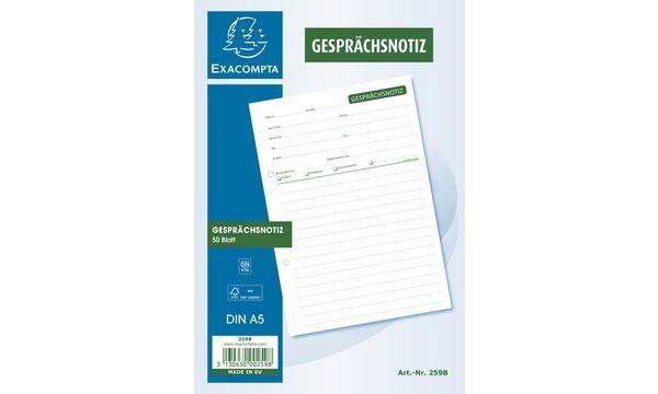 EXACOMPTA Gesprächsnotizblock A5, 50 Blatt