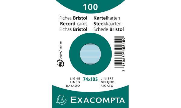 EXACOMPTA Karteikarten, DIN A7, liniert, weiß