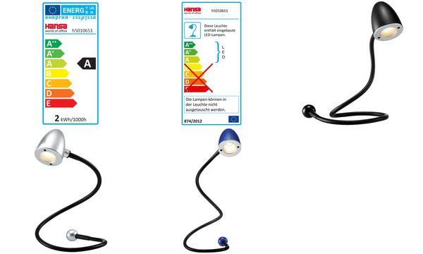 Hansa USB-LED-Leuchte Snake, silber