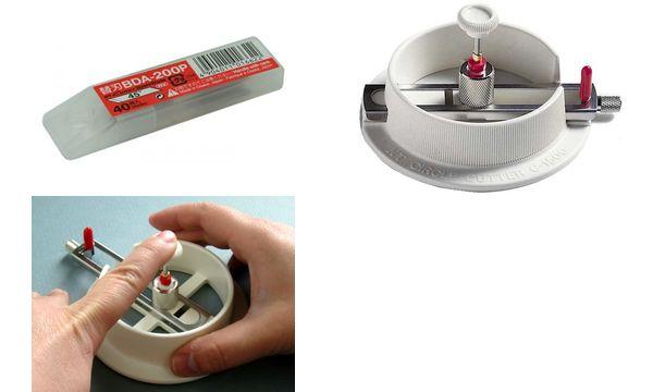 NT Cutter/Kreisschneider Ersatzklingen BDA 200 P, 45 Grad