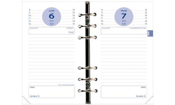QUO VADIS Recharge Timer 17, 2020/2021, 1 jour par page
