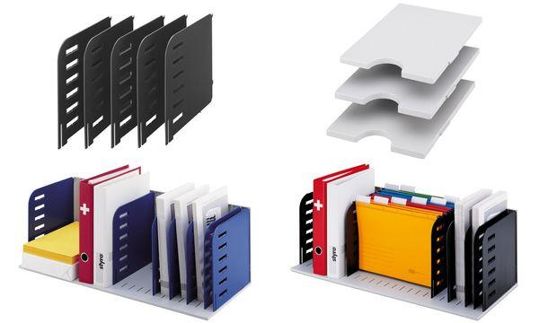 styro Tablare für Ablagesystem styrorac, waagerecht, grau