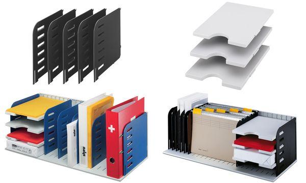 styro Ablagesystem-Grundeinheit styrorac, schwarz/grau
