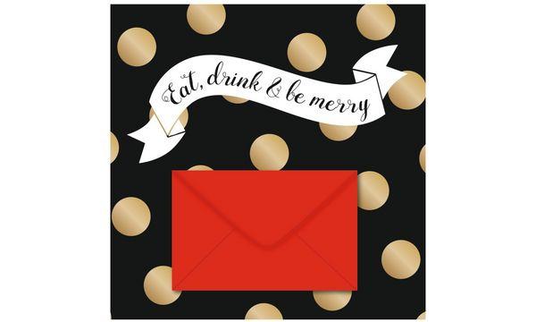SUSY CARD Weihnachts-Gutscheinkarte Punkte, Banner