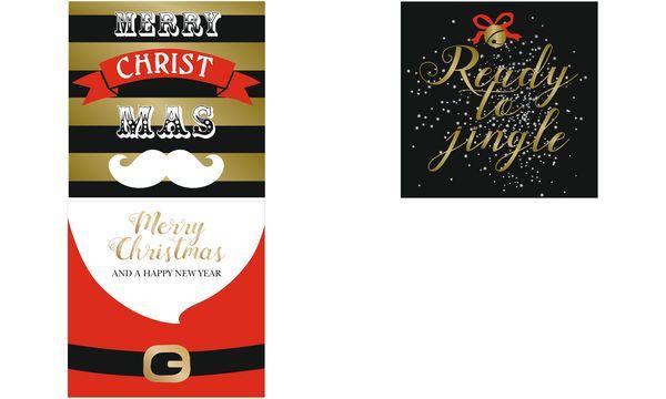 SUSY CARD Weihnachts-Geldscheinkarte Bart, Banner