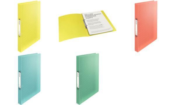 Esselte Ringbuch ColourIce, DIN A4, PP, gelb, 2 Ringe