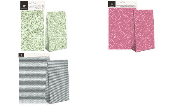 Clairefontaine Papiertüte mit Blockboden, grüne Punkte