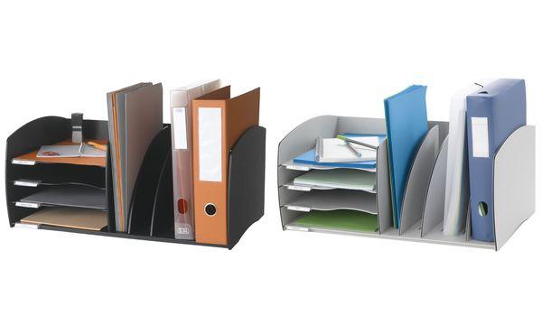 PAPERFLOW Ablagesystem S, 4 Fächer, grau