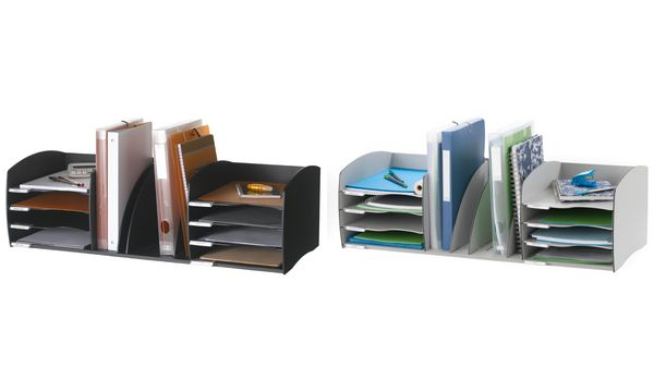 PAPERFLOW Ablagesystem XL, 8 Fächer, schwarz