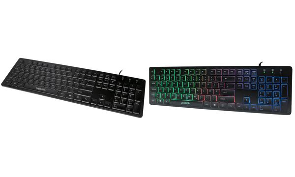 LogiLink Beleuchtete Tastatur, kabelgebunden, schwarz