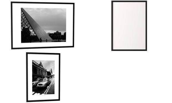 PAPERFLOW Alu-Bilderrahmen, (B)500 x (H)700 mm, schwarz