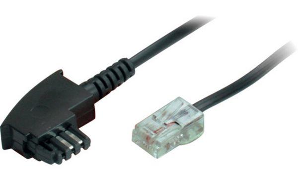 shiverpeaks BASIC-S Telefonkabel, schwarz, 2,0 m