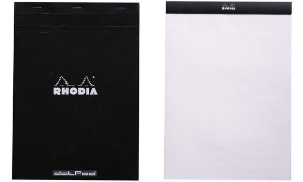 RHODIA Notizblock dotPad, DIN A4+, gepunktet, schwarz