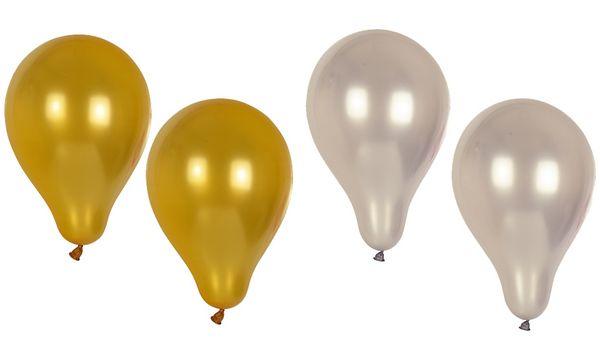PAPSTAR Luftballons Metallic, Umfang: 800 mm, gold
