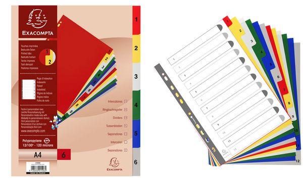 EXACOMPTA Kunststoff-Register, Zahlen, DIN A4+, 31-teilig