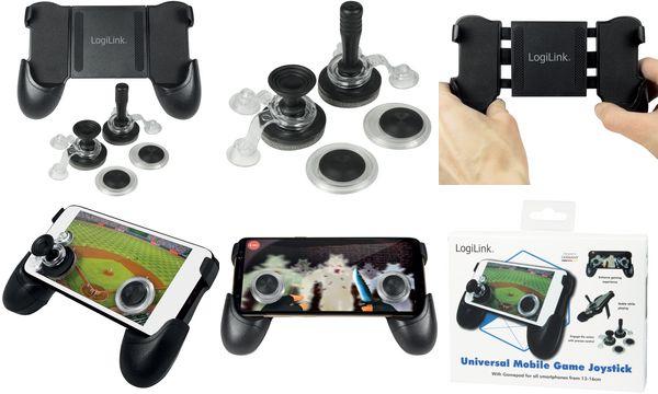 LogiLink Mobiles Touchscreen Gamepad, aus ABS & EVA, sch...