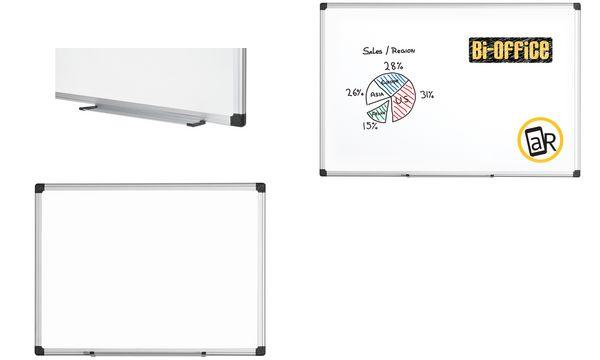 Bi-Office Weißwandtafel Maya, 600 x 450 mm, emailliert