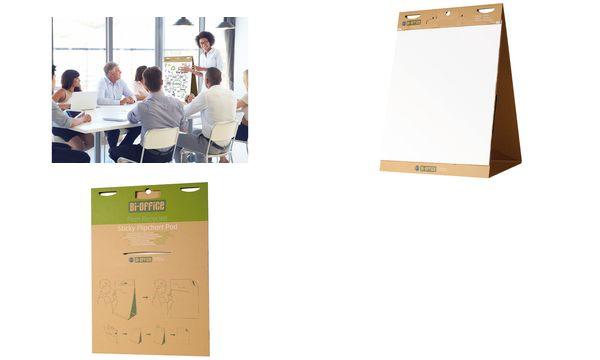 Bi-Office Tisch-Flipchart Earth, 20 Blatt, 500 x 585 mm