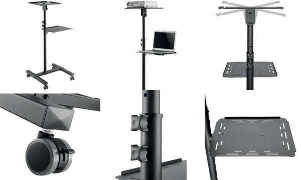 LogiLink Multimedia Projektionswagen aus Stahl, 2-stufig