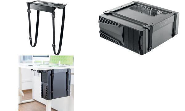 LogiLink CPU-Halter Gurtsystem, aus Stahl, schwarz