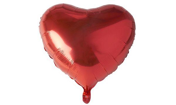 PAPSTAR Folienballon Heart, Durchmesser: 450 mm, rot