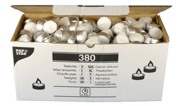 PAPSTAR Teelichter, Durchmesser: 38 mm, weiß, lose