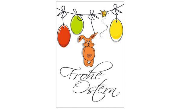 SUSY CARD Oster-Grußkarte Hase auf Wiese