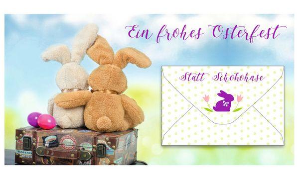 SUSY CARD Oster-Gutscheinkarte Hasenumarmung