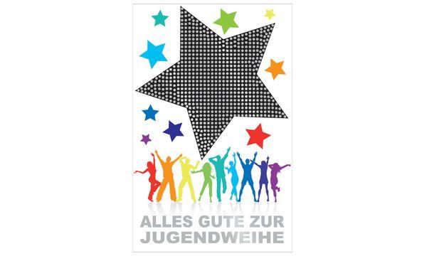 SUSY CARD Jugendweihe-Grußkarte Stern
