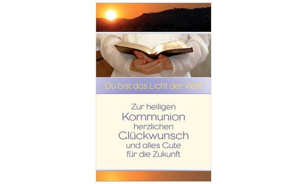 SUSY CARD Kommunionskarte Gesangbuch