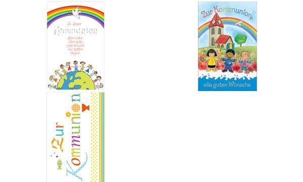 SUSY CARD Kommunionskarte Weltkugel