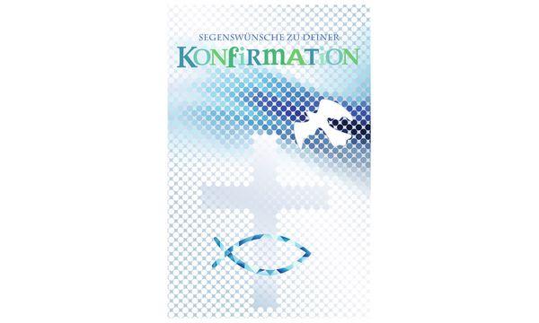 SUSY CARD Konfirmation-Geldscheinkarte Kreuz, Fisch