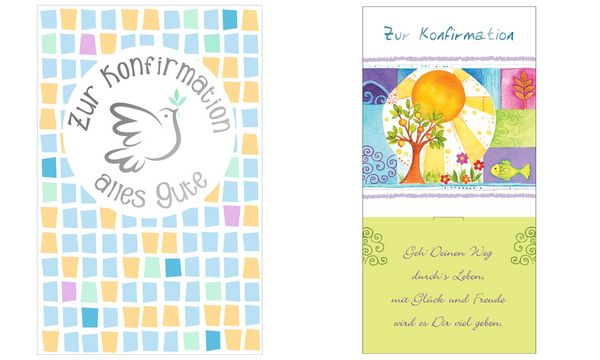 SUSY CARD Konfirmation-Geldscheinkarte Apfelbaum