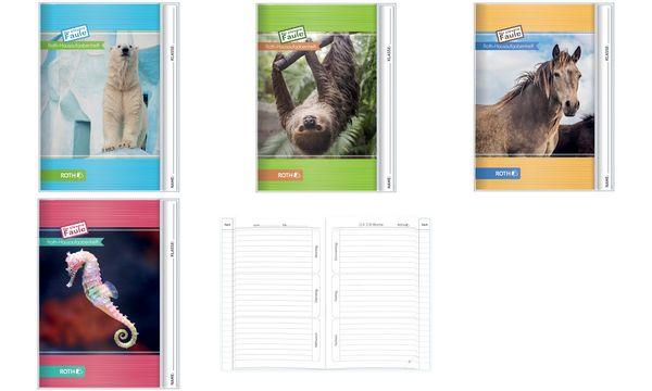 ROTH Hausaufgabenheft Tiere für clevere Faule Faultier