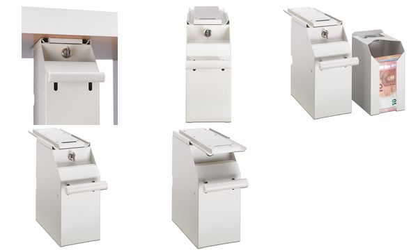 ratiotec Geldschein-Tresor POS Safe RT 500, creme-weiß