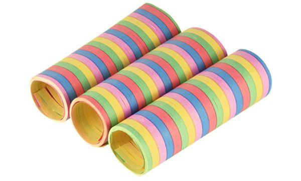 PAPSTAR Luftschlangen Stripes, aus Papier, 5 Farben