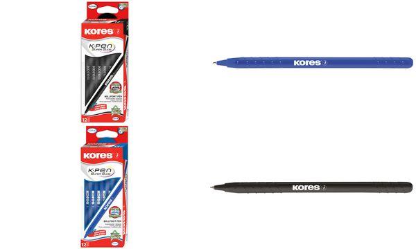 Kores Einweg-Kugelschreiber K-Pen Super Slide K0, schwarz