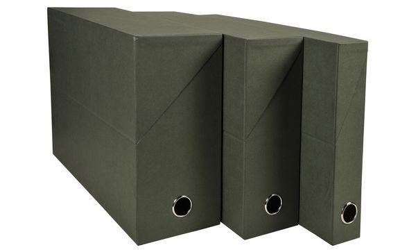 EXACOMPTA Archivbox, DIN A4, Karton, 120 mm, dunkelgrün