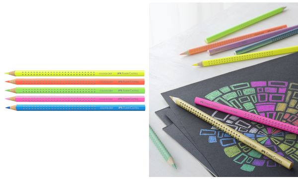 FABER-CASTELL Dreikant-Buntstift Colour GRIP, neonorange