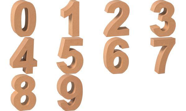 KNORR prandell 3D-Zahl 8, Pappmaché, 175 x 55 mm